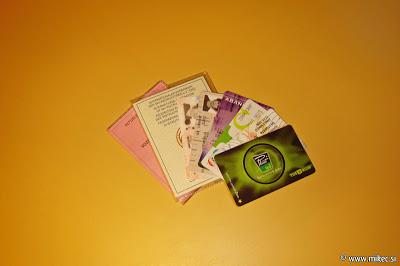 Zmešnjava kartic v denarnici
