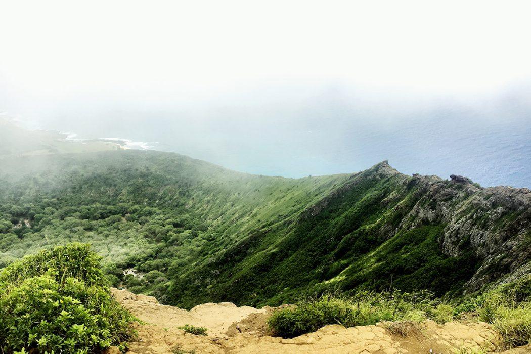 Pogled z vrha na krater