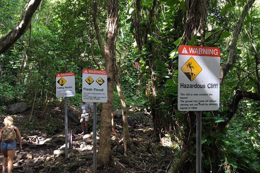 Opozorila pred začetkom poti do slapov