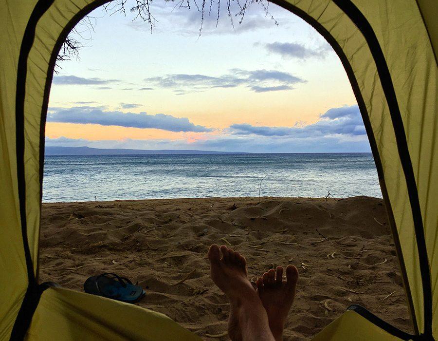 Pogled iz šotora