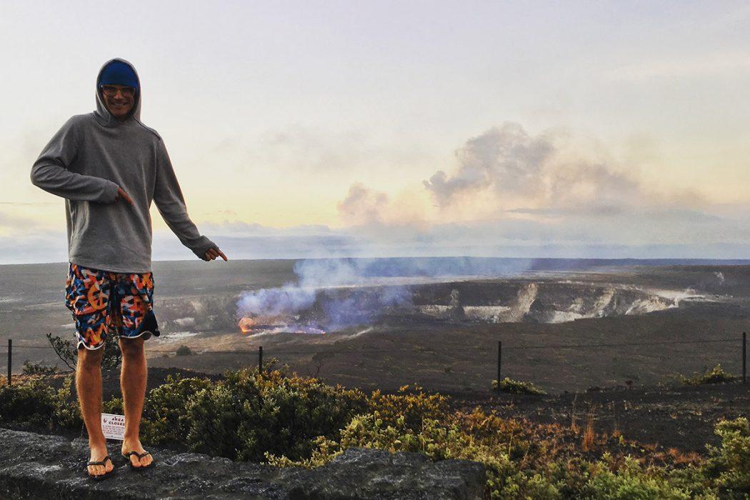 Krater na vrhu vulkana