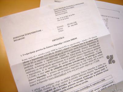 Zoisova štipendija – pozor pri novih pogodbah!