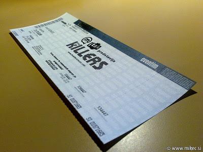 Koncert skupine The Killers v Ljubljani