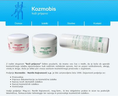 Spletna stran podjetja Kozmobis