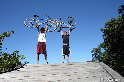 S kolesom na Gorjance
